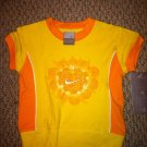 Nike Girls 2T Stretch Top Biking Style Yellow/Orange Heart design BNWT Shirt