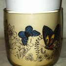 Anchor Hocking Vintage Mod Retro Smokey Brown Butterfly Drinking/Juice/Glass