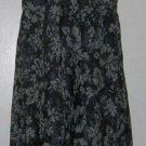 J. Crew Dark Navy Blue Floral Print Strapless Knee-Length Dress Size 10 P Petite
