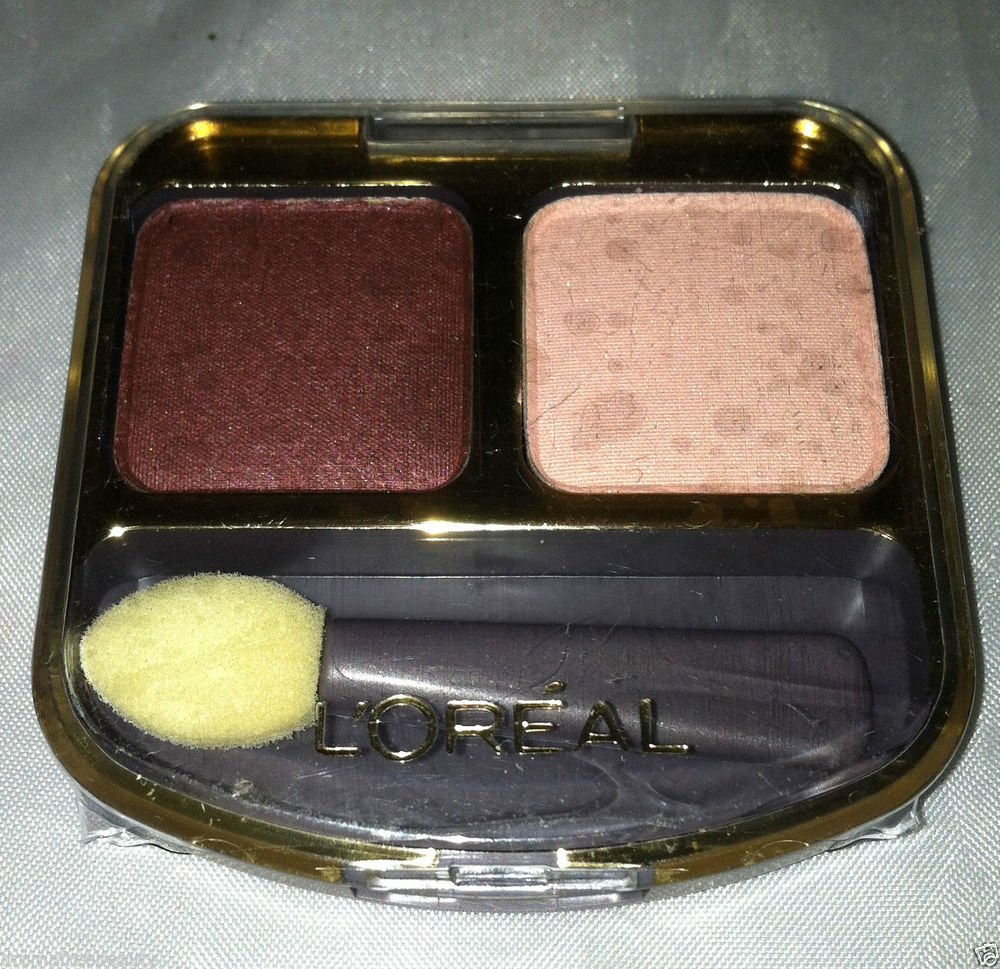 L'Oreal Soft Effects Silky Smooth Duo Eye Colour / Shadow * PLUM BRULEE * New