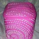 Clinique Unique Square Cube Pink Cosmetic / Makeup Bag Full Top Zipper w/ Handle