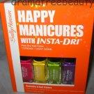 Sally Hansen Inta-Dri Nail Polish *HAPPY MANICURES* Set w/Fuchsia, Lime, Violet+