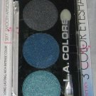 L.A. Colors 3 Color Eyeshadow Trio *MOON ROCK* Smoky Silver/Gray Blue BN &Sealed