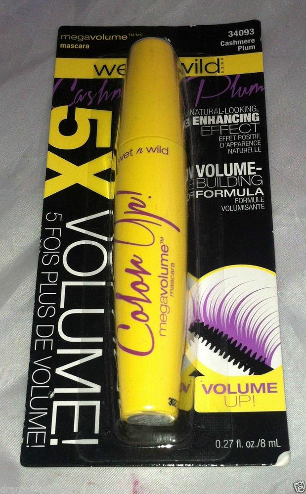 Wet n Wild Mega 5X Volume Mascara Color Up * CASHMERE PLUM * Building Formula BN