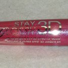 Rimmel Stay Glossy 3D Lip Gloss * 123 BACK ROW SMOOCH * Shimmery Pink Sealed New