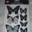 White Black Butterfly Stickers Autocollantes Hand Made 3-D Wings Look Real BN