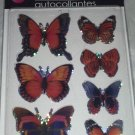 Orange Blue Butterfly Stickers Autocollantes Hand Made 3-D Wings Look Real BN