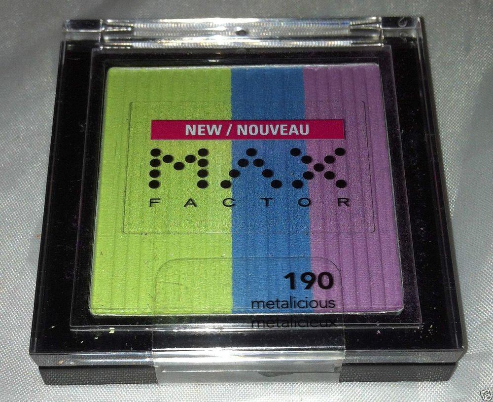 Max Factor Trio Eye Shadow * 190 METALICIOUS * Bright Colors Long Wear New