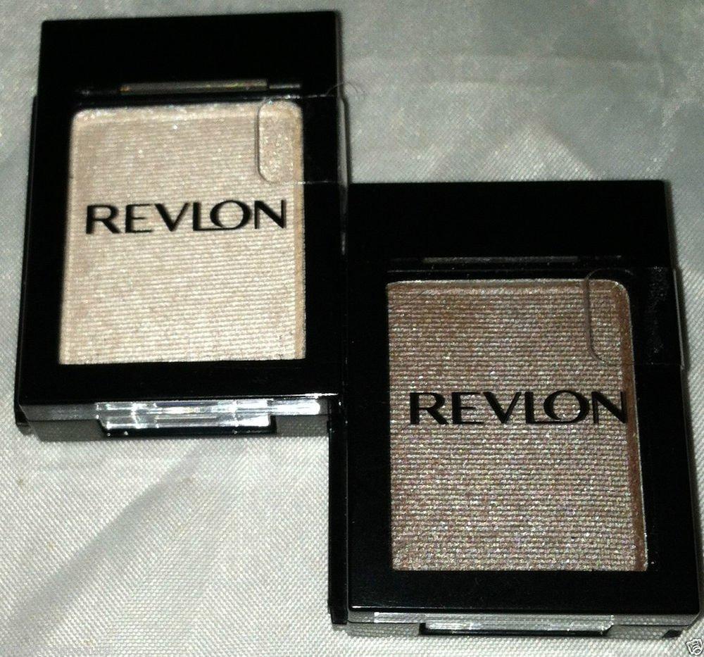 Revlon Eye Shadow Singles Shadowlinks 2pc Lot * TAUPE/OYSTER * Satin/Metallic BN