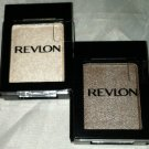Revlon Eye Shadow Singles Shadowlinks 2pc Lot * TAUPE/OYSTER * Satin/Metallic BN