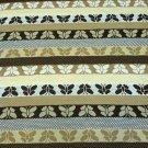 "Brown Stripe Butterflies/Honeycomb Pattern Stretch Knit Cotton Fabric 72"" X 62"""