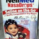 NeilMed NasaDrops 15ct Travel/On The  Go Saline/Nasal Aspiratior Combo BNIB