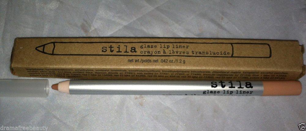 Stila Glaze Lip Liner * NUDE * Pale Creamy Beige/Pink Nude Brand New in Box Rare