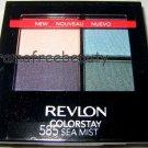 BN/Sealed Revlon PACIFIC COAST 16-Hour Colorstay Eyeshadow Quad 585 *SEA MIST*