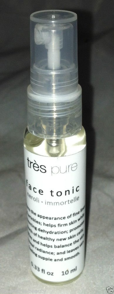 Tres Pure Face Tonic Softens Fine Lines and Wrinkles 10mL Travel/Sample
