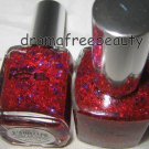 Pure Ice Holiday Nail Polish *TWIST AND SHOUT* Red & Blue Multi-Hex Glitter BNew