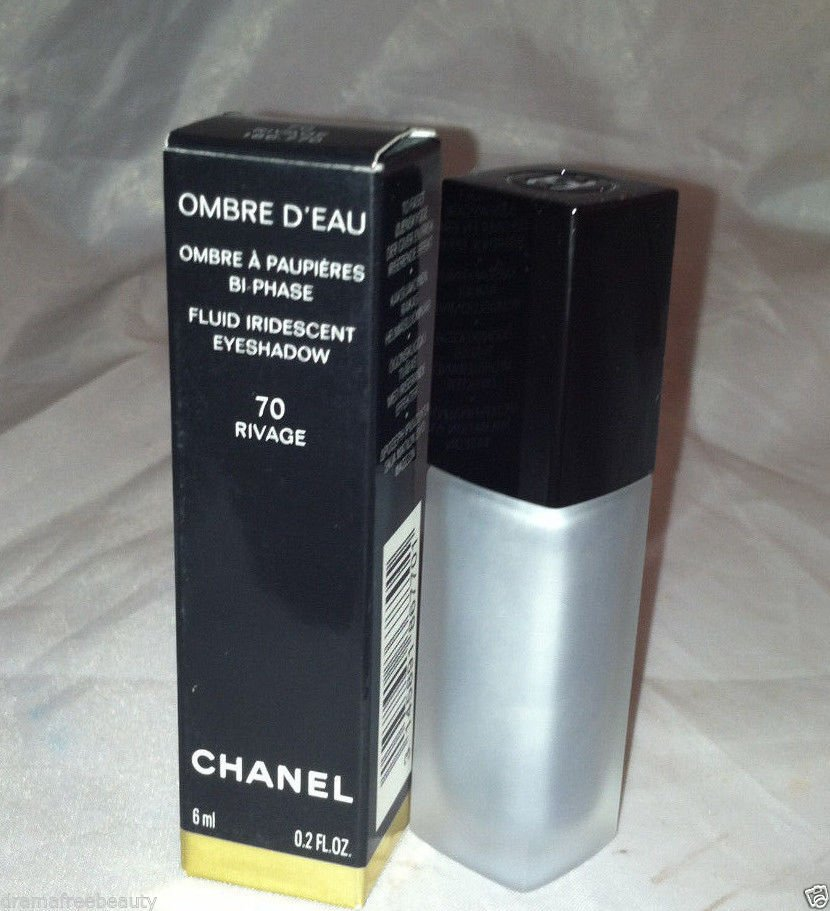 Chanel Ombre D' Eau Fluid Iridescent Eyeshadow 70 *RIVAGE* Shimmery Silver BNIB