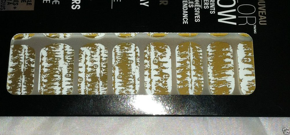 Maybelline Lmtd Ed. Color Show Nail Stickers Mirror Effect *10 GOLDEN DISTRESS*