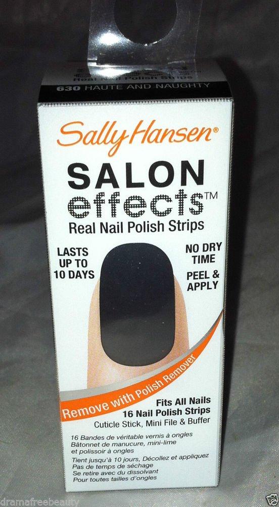 Sally Hansen Salon Effects Nail Polish Strips * 630 HAUTE AND NAUGHTY * Grey