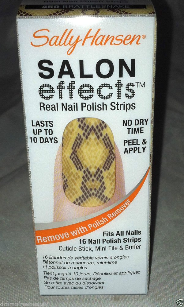 Sally Hansen Salon Effects Nail Polish Strips * 450 BRATTLESNAKE * Snake Skin