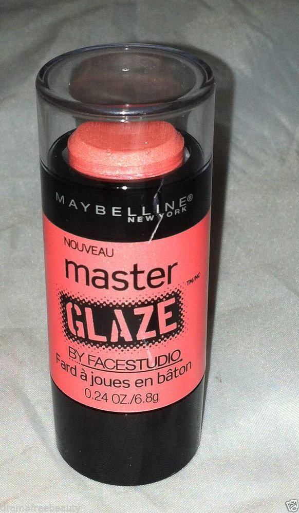 Maybelline Master Glaze Blush Stick * 30 CORAL SHEEN * Brand New Sealed