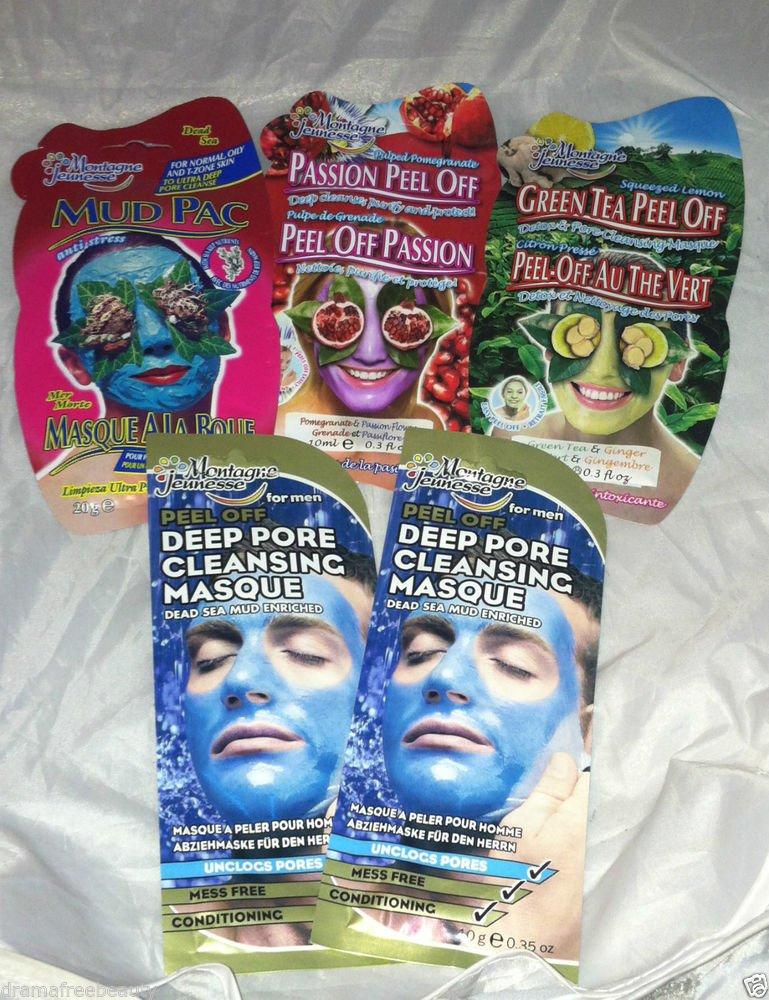 Montagne Jeunesse Deep Pore Cleansing Face Peel Mask/Masque Mixed 5pc Lot