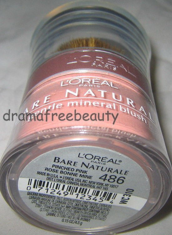 L'Oreal Bare Naturale All-Over Mineral Glow Illuminator Powder 486 PINCHED PINK