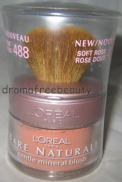 L'Oreal Bare Naturale All-Over Mineral Glow Illuminator Powder #488 *SOFT ROSE*