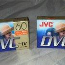 JVC M-DV60DU Mini DV DVC DVM60ME 2pc Lot Sealed Brand New