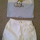 Boys/Toddlers 9-12 months Snoopy/Woodstock Tank Top/Shirt and Short Set by H&M