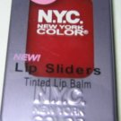 NYC New York Color Lip Sliders Tinted Lip Balm 512A * SUGAR BABY * Sheer Red BN