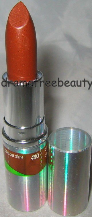 Cover Girl TruShine Lipstick 480 *COCOA SHINE* Sheer Shiny Chocolate Brown B New