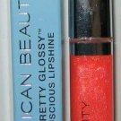 American Beauty Pretty Glossy Luscious Lipshine 11 *PINK COLADA* Coral/Peach NIB