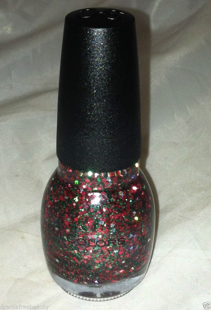 Sinful Colors Nail Polish * HOLIDAY REBEL * Multi-Size Hex Red Green Glitter New