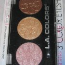 L.A. Colors 3 Color Eyeshadow Trio *ORCHID* Bronze/Champagne/Pink Sh. BN &Sealed