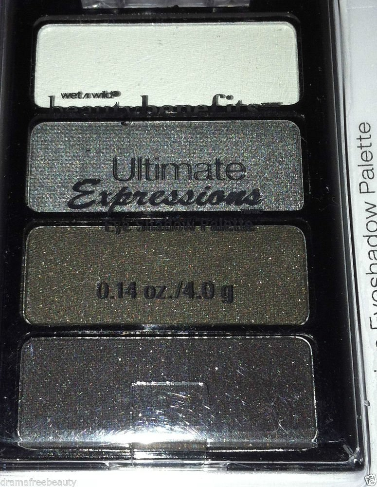Wet n Wild Ultimate Expression Eyeshadow Palette Quad *SMOKEY* Charcoal Grey BN