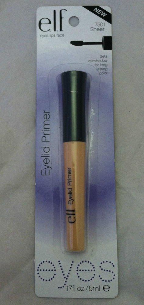 E.L.F. Eyelid Primer 7501 SHEER Sets Eyeshadow for Long Lasting Color BN &Sealed