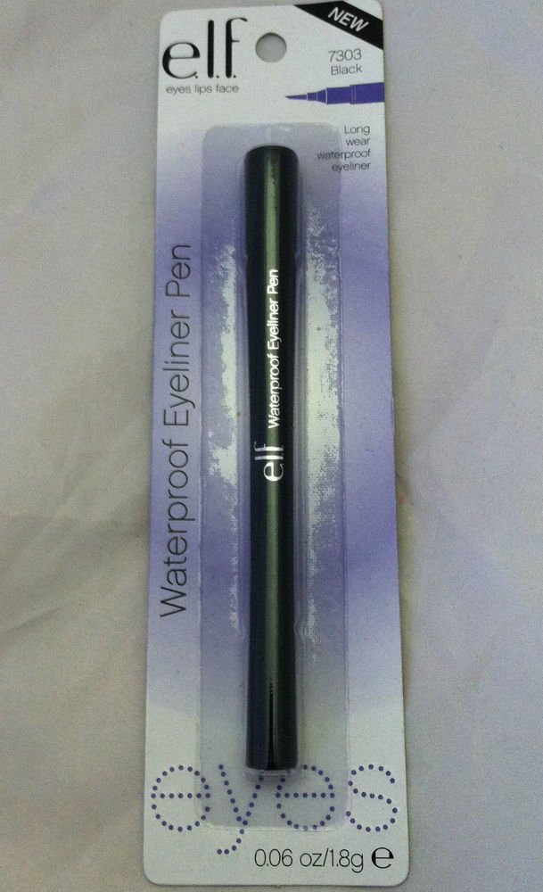 E.L.F. Waterproof Eyeliner Pen # 7303 Black Long Wear Smudge Free Easy Glide NEW