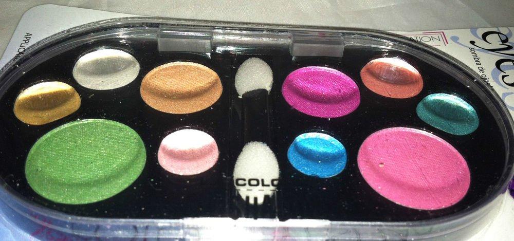 L.A. Colors 10 Color Eyeshadow Palette BES483 Parfait Long Lasting Intense Color