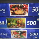 3 Puzzlebug 500 pc Puzzle Lot *HARVEST PIE/STRAWBERRY BASKET/FRESH FRUITS/VEGS