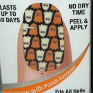 Sally Hansen Salon Effects Real Nail Polish Strips *GHOULIE GIRL* Ghosts BNIB
