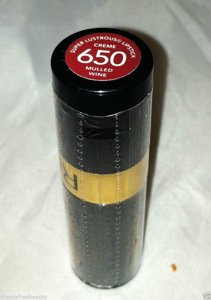 Revlon Super Lustrous Lipstick Creme *650 MULLED WINE* Brown-Based Deep Red BNew