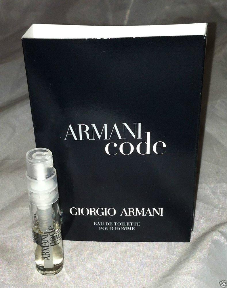 Giorgio Armani * ARMANI CODE * Eau De Toilette Travel/Sample 1.5mL Carded New