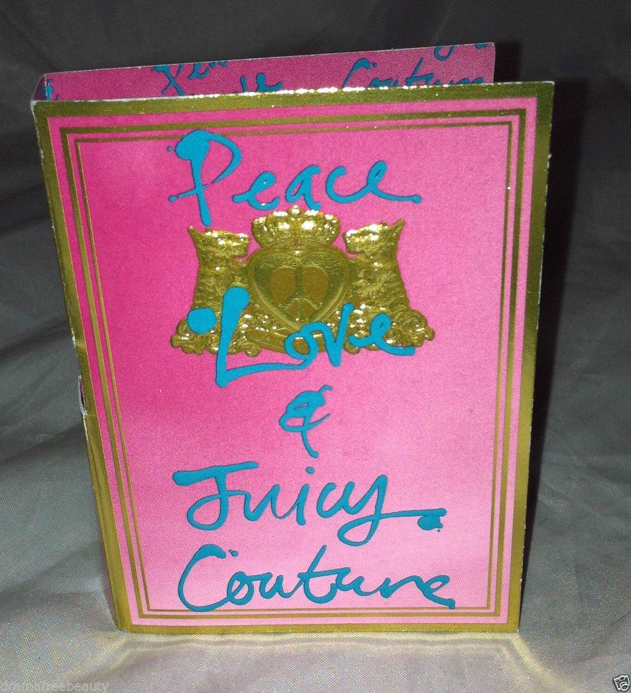 Juicy Couture PEACE LOVE Eau De Parfum Spray Sample/Travel 1.5mL New Carded
