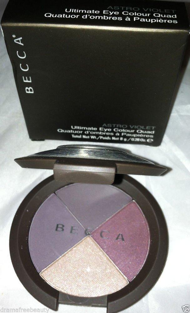 Becca Ultimate Eye Shadow Colour Quad ASTRO VIOLET Matte/Metallic Black Plum NIB