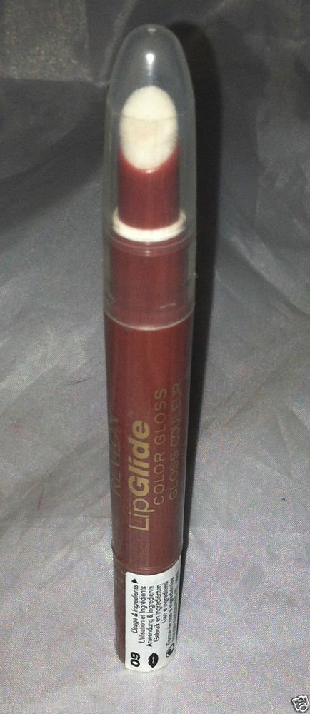 Revlon LipGlide Color Lip Gloss * 09 GLAZED ALMOND * Neutral Brown w/Hint Pink