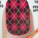 Sally Hansen Salon Effects Nail Polish Strips * 420 SWEET TART-AN * Plaid Checks