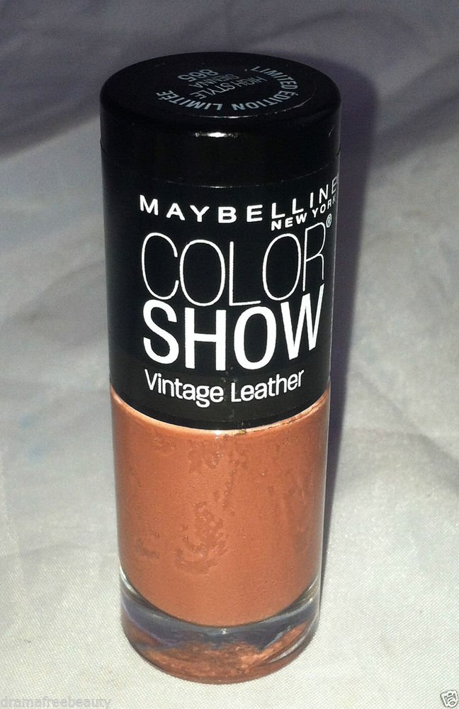Maybelline Nail polish Color Show * 865 HIGH STYLE SIENNA  * Vintage Leather