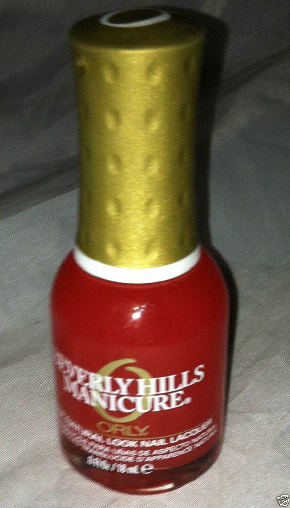 ORLY Beverly Hills Manicure Nail Polish * PLUM * Sheer Coral Jelly Natural Look