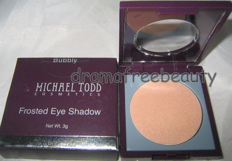 Michael Todd Cosmetics Frosted Eye Shadow *BUBBLY* Champagne/Peach Shimmer BNIB